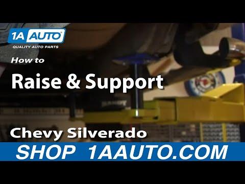 Where to Place Jack and Jackstands Chevy Silverado GMC Sierra 1500