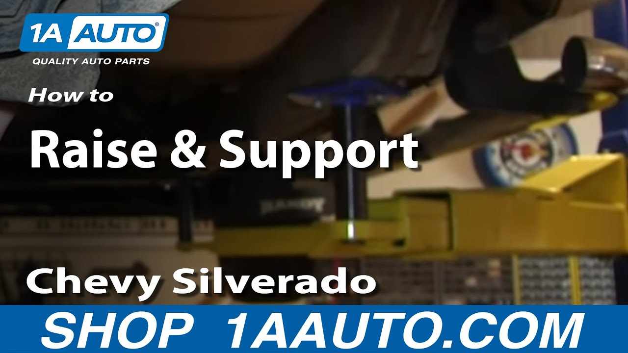 Where to Place Jack and Jackstands Chevy Silverado GMC Sierra 1500 - YouTube