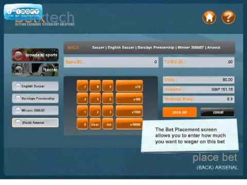 BetXTech - Self Service Sports Betting Kiosk Terminal EPOS User Interface Design  - Bet Placement
