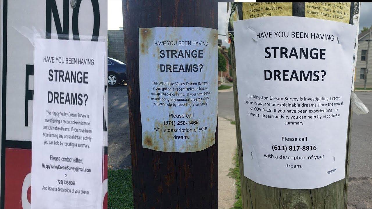 Flyers about strange dreams in Portland
