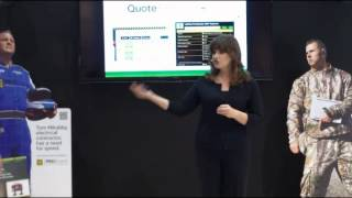 Schneider Electric In-Booth Presentation at NECA Show 2014 by Trade Show Presenter Emilie Barta