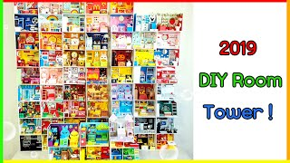 2019 DIY Miniature Dollhouse Room Collection ! Miniature Room Tower !!