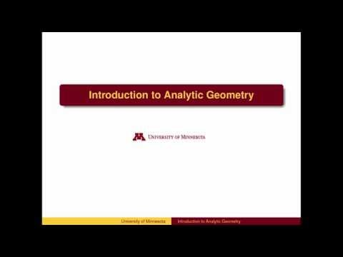 AL11 - Introduction to Analytical Geometry