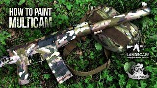 Покраска оружия в Multicam \ How to paint Multicam