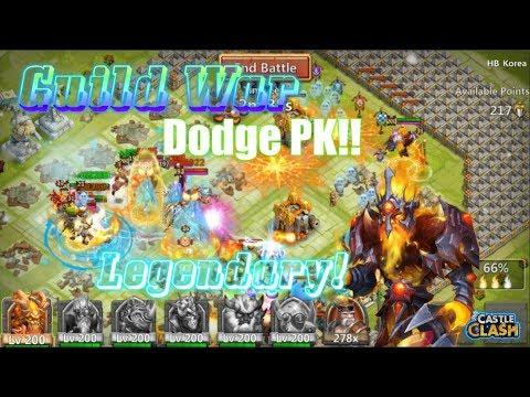 Legendary PK Guild War Action!! AWESOME!! Castle Clash