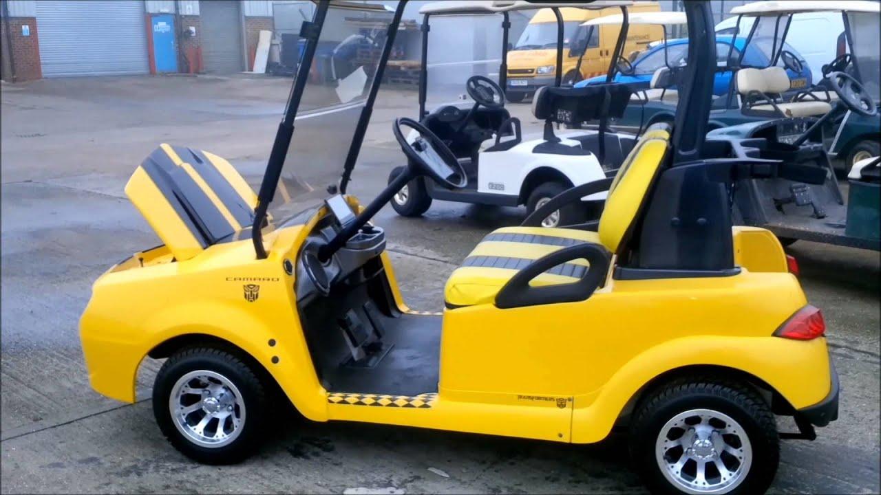 Camaro Bumble Bee Style Golf Car - YouTube on nissan golf cart, cadillac golf cart, malibu golf cart, kawasaki golf cart, voyager golf cart, brady golf cart, impala golf cart, suburban golf cart, mustang golf cart, clark golf cart, express golf cart, custom golf cart, chevrolet golf cart, angel golf cart, marshall golf cart, challenger golf cart, firebird golf cart, concept golf cart,