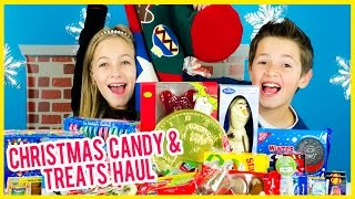 HUGE GIGANTIC CHRISTMAS CANDY HAUL IN A GIANT STOCKING! TREATS,  CHOCOLATE, GUMMY CANDY PLP TV