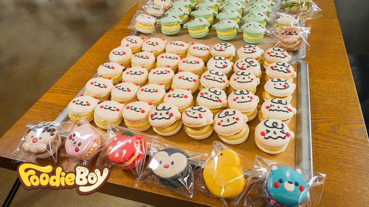 만화를 찢고 나온 마카롱! 수제 캐릭터 마카롱 / Fantastic Colorful Macarons - Korean Street Food