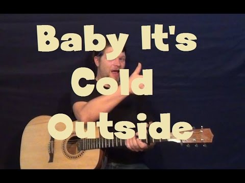 Baby Its Cold Outside (Duck the Halls) Easy Guitar Lesson How to Play Tutorial