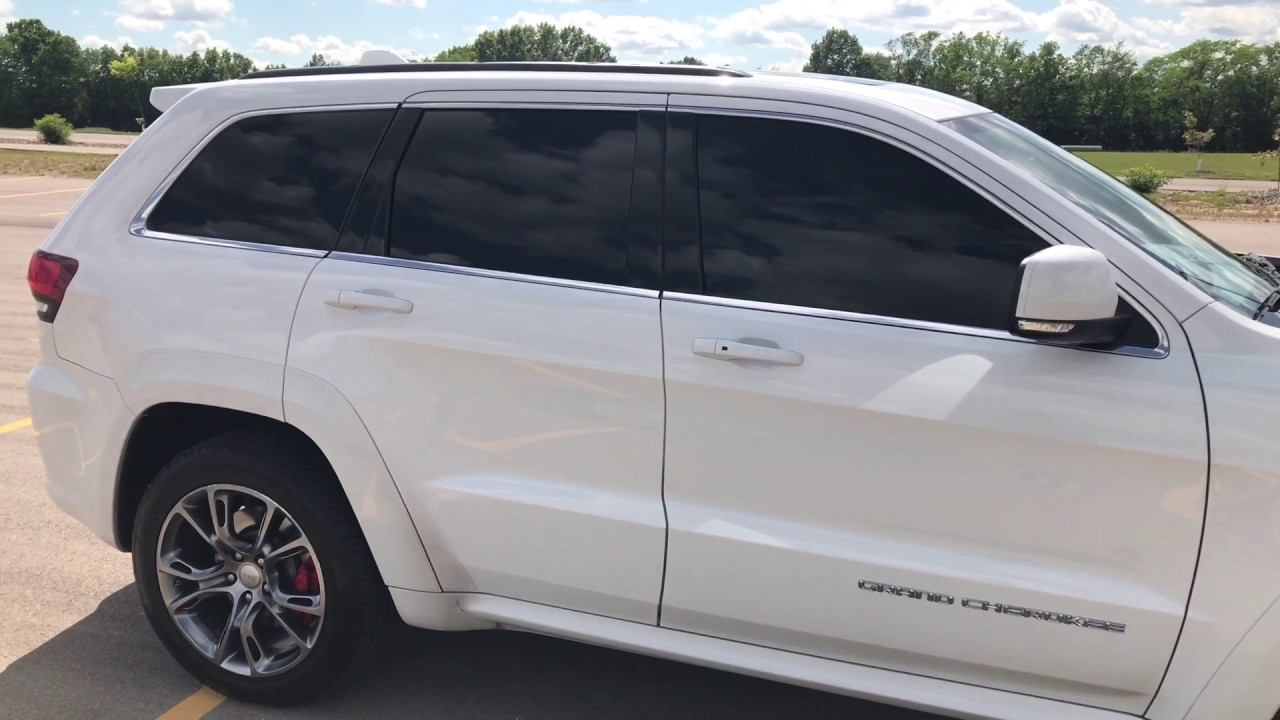 5% window tint on 2014 Jeep Grand Cherokee SRT - YouTube