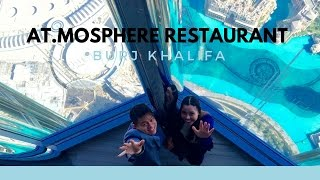 Lunch in Atmosphere Restaurant, Burj Khalifa