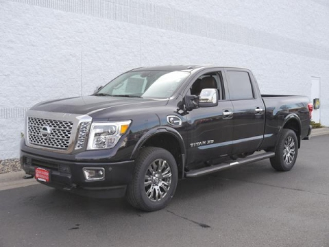 2017 nissan titan xd 4x4 diesel crew cab platinum reserve for sale in coon rapids youtube. Black Bedroom Furniture Sets. Home Design Ideas