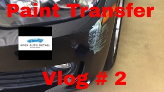 Paint Transfer Removal and Repair of Damage Underneath (Vlog # 2)