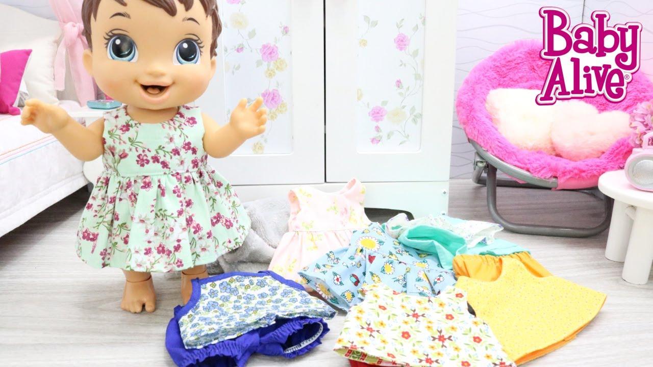 BABY ALIVE LUNA GANHOU MUITAS ROUPAS NOVAS DA MAMÃE
