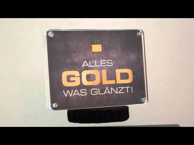 """1 Feingold 999 Goldbarren in einer attraktiven AcrylBox """"Alles Gold was glänzt"""""""
