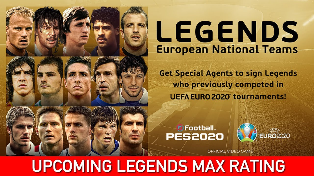 UPCOMING EUROPEAN LEGENDS MAX RATING | PES 2020 MOBILE