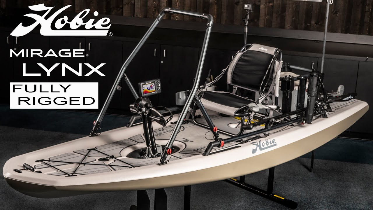The Ultimate FULLY RIGGED Kayak for Bass Fishing   Hobie Mirage Lynx pedal kayak