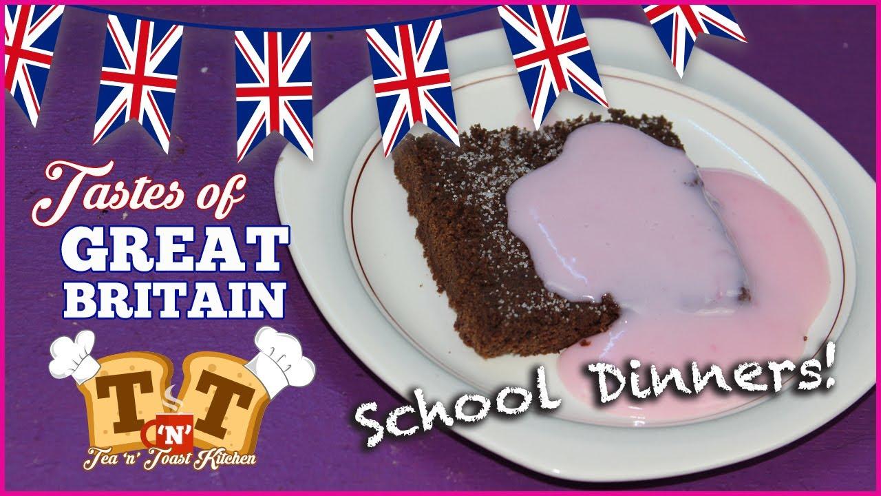 Chocolate Tarmac Pink Custard School Dinners