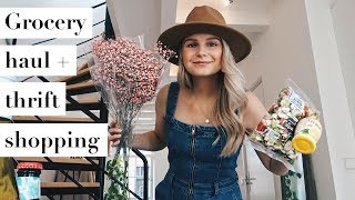 GROCERY HAUL, THRIFT SHOPPING + HOME DECOR   WEEKEND VLOG PART 2   ANDREACLARE