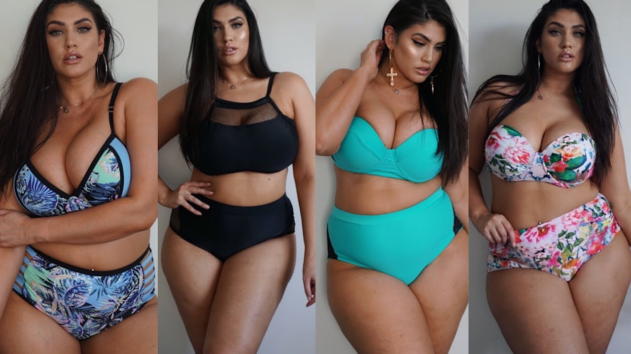 curvy sense plus size bikini try on haul/ review | la'tecia thomas