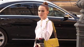 EXCLUSIVE : Zoey Deutch attending 2018 Dior Haute couture after dinner in Paris