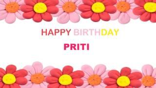 Priti   Birthday Postcards & Postales - Happy Birthday
