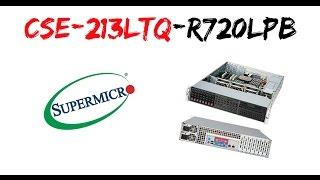 show supermicro cse 213ltq r720lpb 2u chassis support mb 13 68 x 13 unboxing