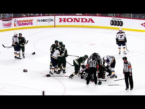Wild brawl with Blues after not being able to score trying goal in final seconds