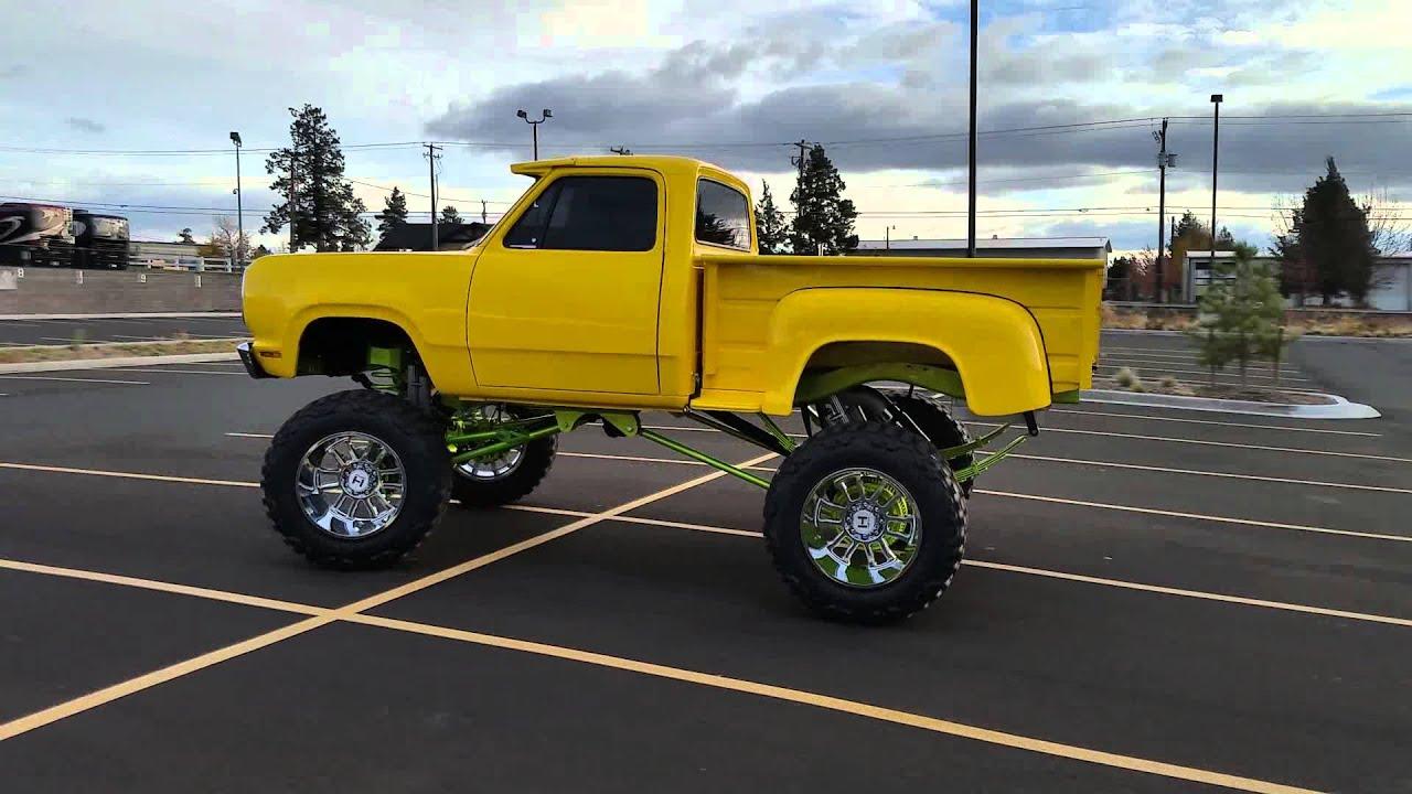 '78 Dodge Stepside Cummins swap 2015 SEMA build - YouTube