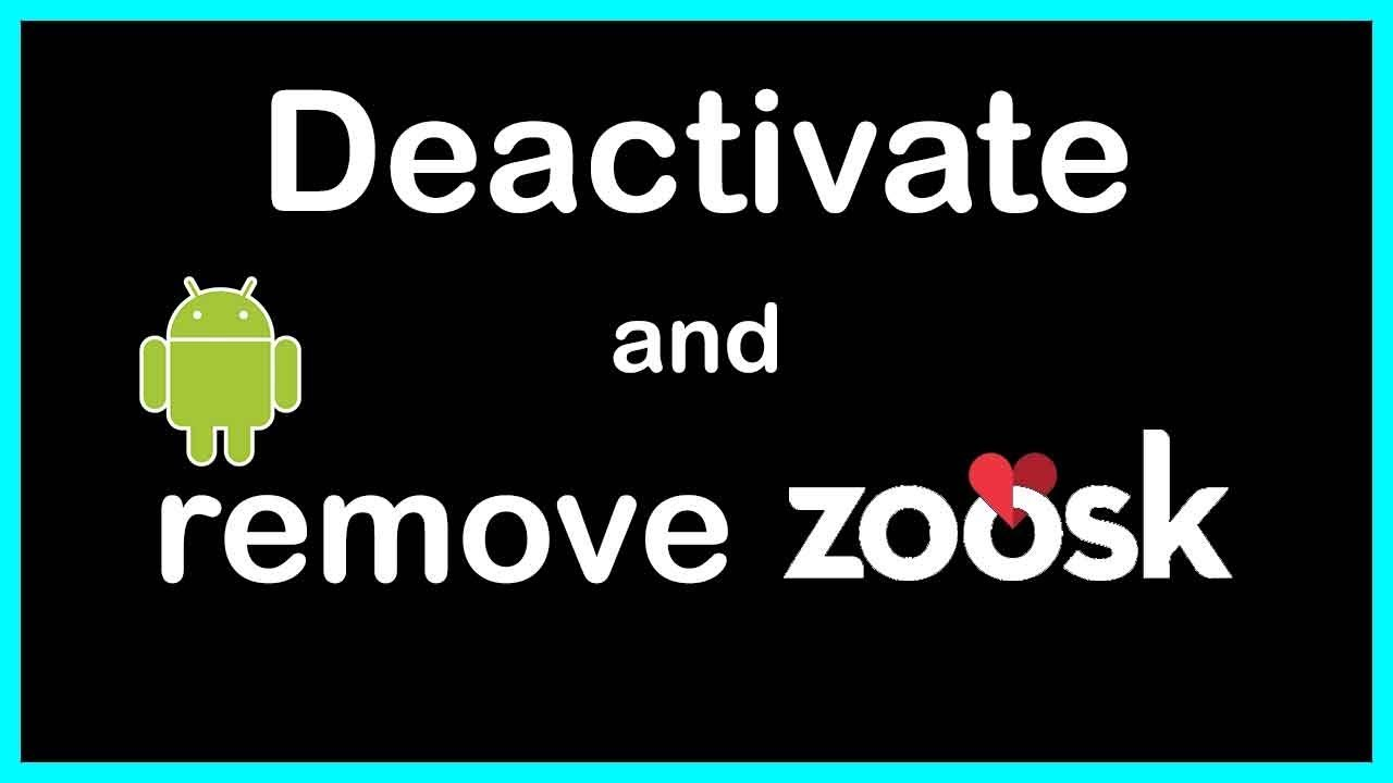 how to deactivate zoosk
