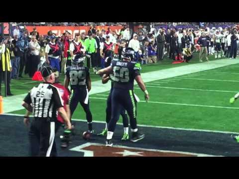 Super Bowl XLIX Doug Baldwin End Zone Celebration