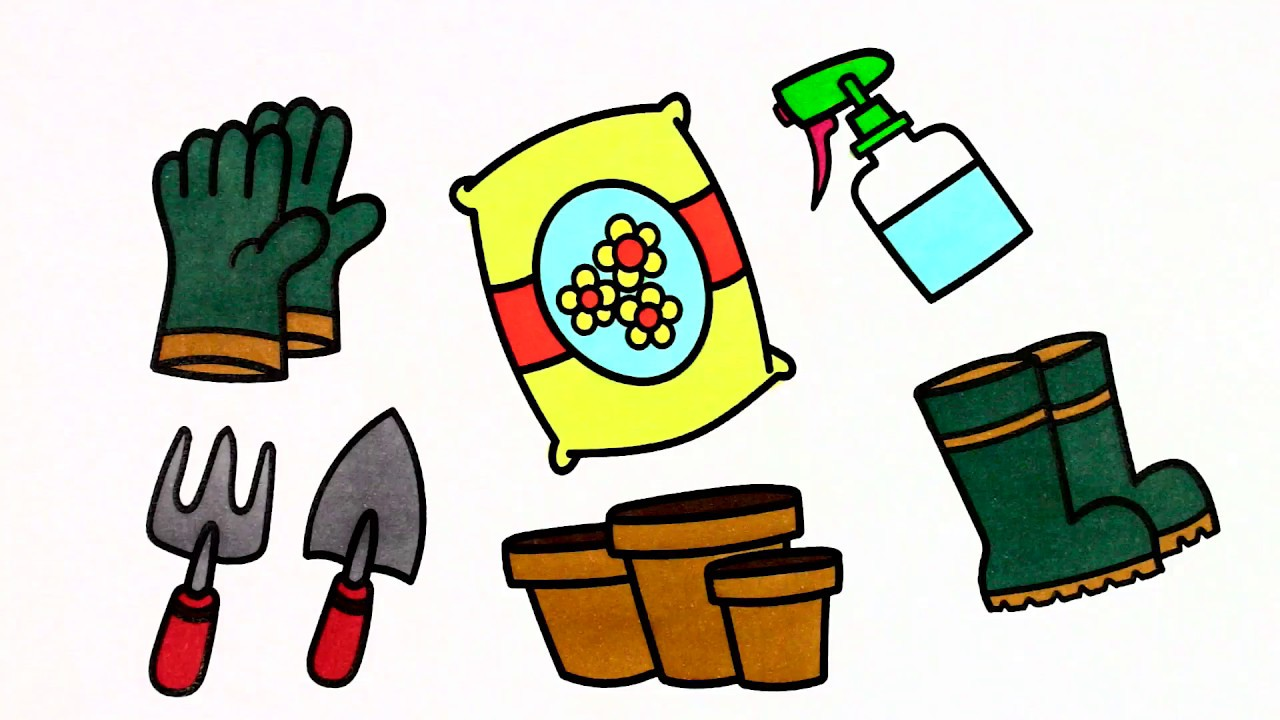 kids gardening tools coloring pages - photo#41