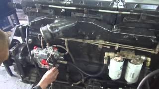 Работа двигателя  Cummins N14