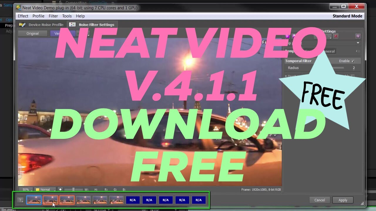 Download Neat Video Pro  Free For Adobe Pr Ae Windows