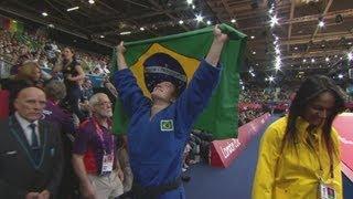 Verkerk (NED) V Aguiar -- Women's -78kg Judo Bronze Medal Bout -- London 2012 Olympics
