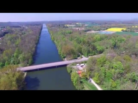 Donau Radwanderweg Offingen an der Donau - Donaubrücke - Radlertankstelle - Donauufer