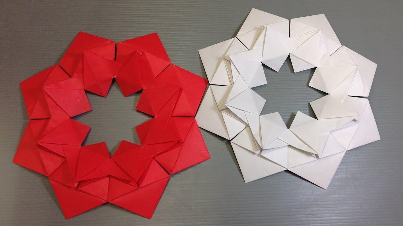 Christmas Origami Flower Diagram Washing Machine Wiring Easy Modular Doovi