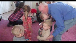 Cousins Love Grandpa