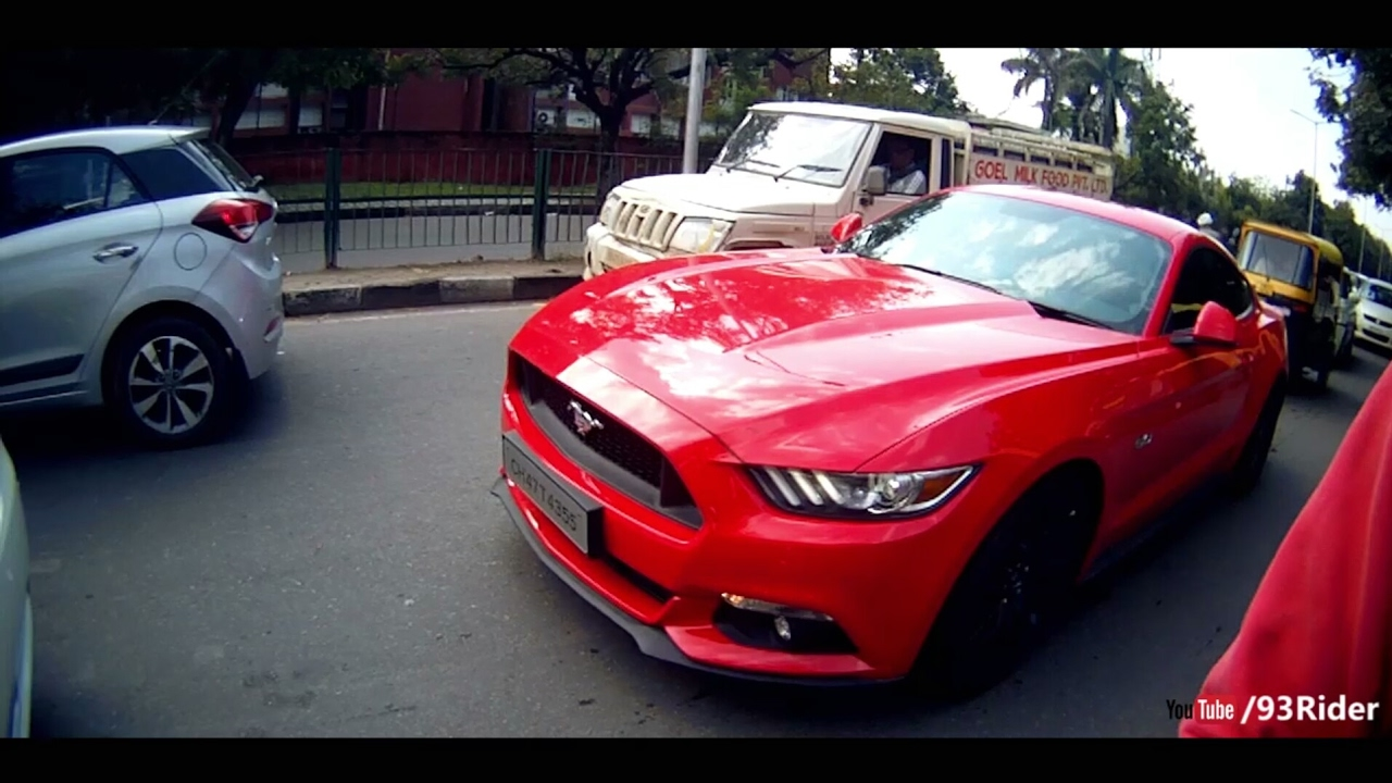Loud ford mustang gt chase in chandigarh borla exhaust 93rider