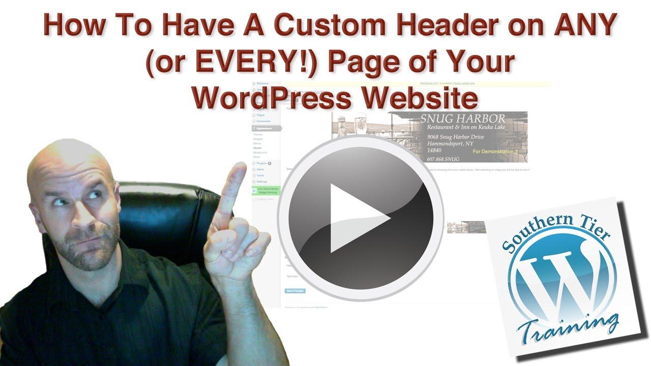how to change header wordpress