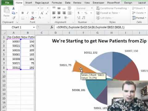 Excel Video 127 Exploding Pie Charts Youtube