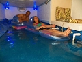 Indoor Swimming Pool DIY from Crawl Space to Simulate Ocean Beach 2 of 2