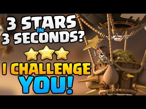 3 STARS in 3 SECONDS? I Challenge YOU in Clash of Clans [2018] Balloon & Haste Spell Attacks!