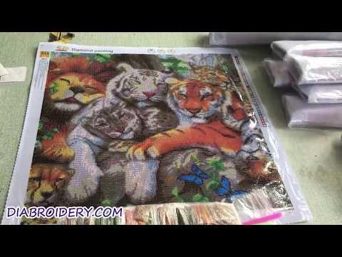 Animal 5d Rhinestone Art Painting Resin Beads Painting Diy Diamond Painting