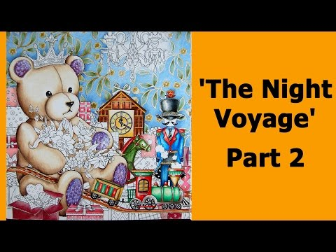 Colouring 'The Night Voyage' with Prismacolour pencils. Part 2 / Раскраска-антистресс
