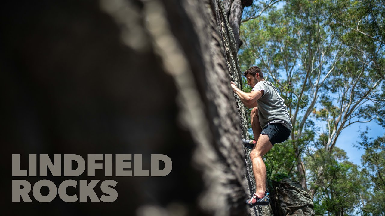 Climbing the Blank Wall, Lindfield Rocks, North Sydney