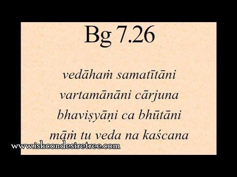 Gita 07.26 - Krishnas omniscience harmonizes with his omnibenevolence
