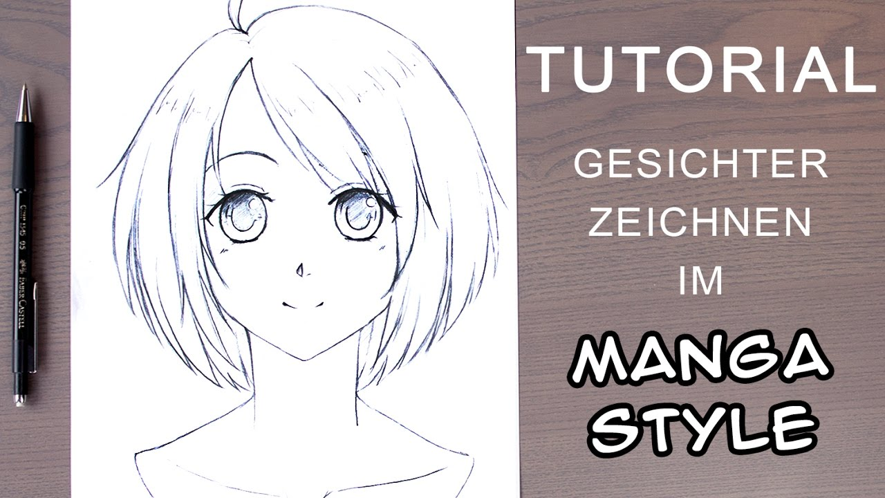 Zeichnen Ideen Gesicht Tutorial How To Draw A Manga Face For Beginners Female Front View Ger With En Subs