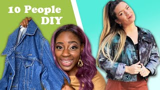 10 DIY Designers Transform A Denim Jacket For $0