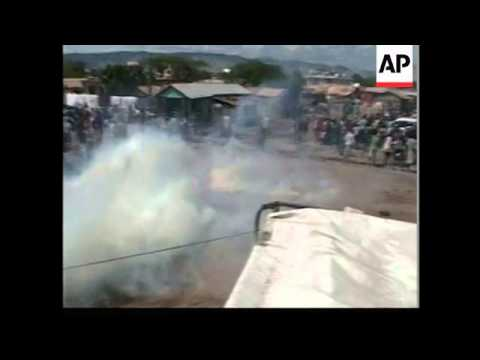 Riot breaks out at UN aid distribution point
